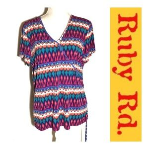Ruby Rd. Geometric Print Top